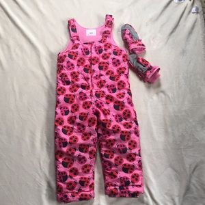 The children's place 5T girls ladybug snowsuit